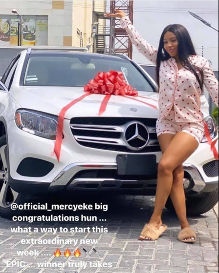 , BBNaija 2019 winner, Mercy Eke gets a Mercedes Benz gift (video), All9ja, All9ja