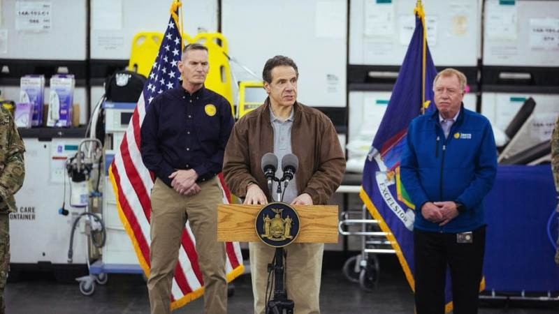 New York Governor Andrew Cuomo cries out over shortage of ventilators says they might be forced to split 4000 ventilators lindaikejisblog