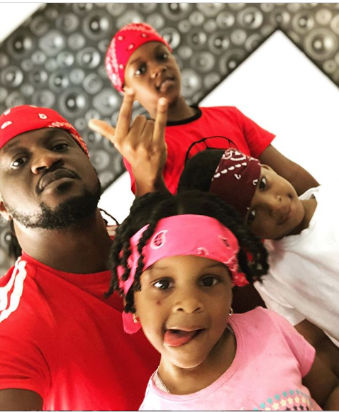 Adorable family photos of Paul Okoye spending quality time with his kids at home