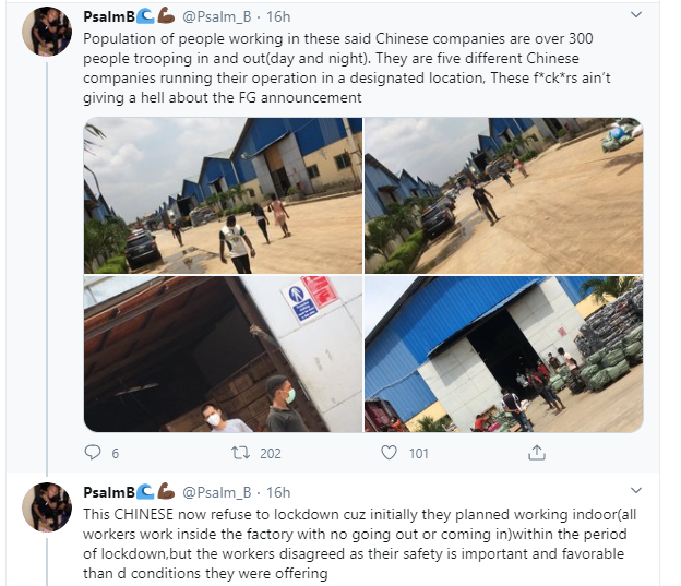 FG shuts down Chinese Company in Ogun State after its owner refused to comply with ban on large gathering lindaikejisblog 3