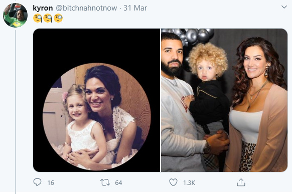 """""""Is Drake his father too?"""" Twitter users react as woman who looks like Drake's baby mama shares photo of her son who looks exactly like Drake's son, All9ja"""