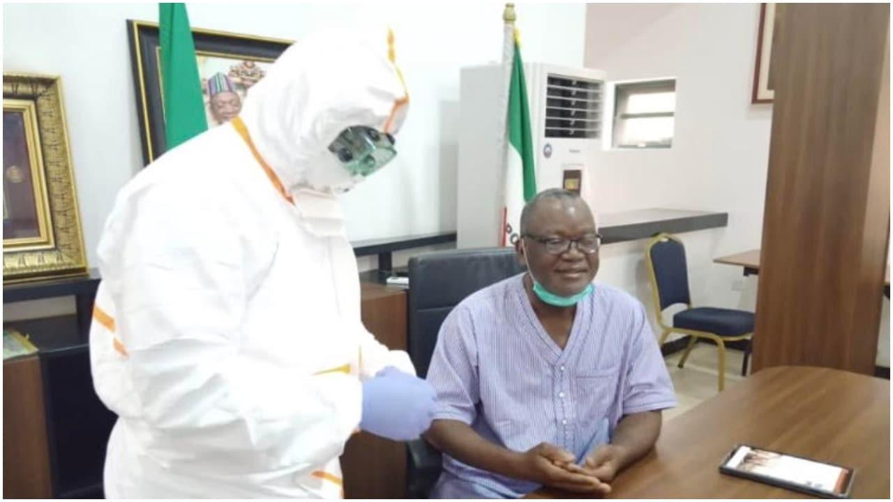, Benue Governor, Samuel Ortom and others test negative to Coronavirus, All9ja, All9ja