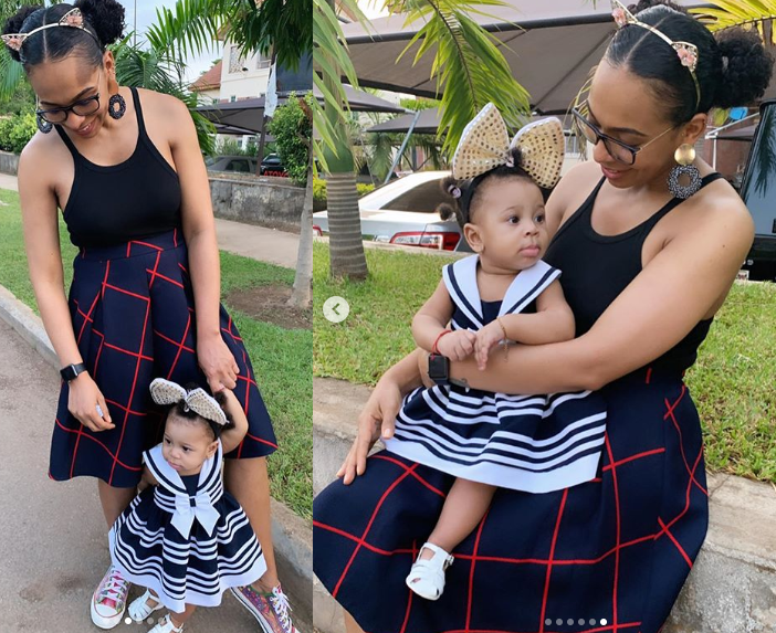 Reality star, TBoss shares beautiful photos with her baby daughter