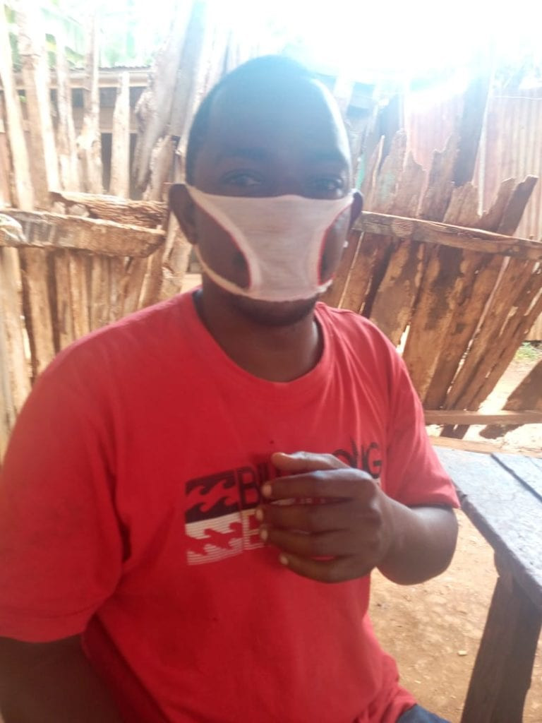 Residents of Kenyan community reduced to wearing panties fashioned into facemasks after they were duped by unscrupulous traders (photos), All9ja