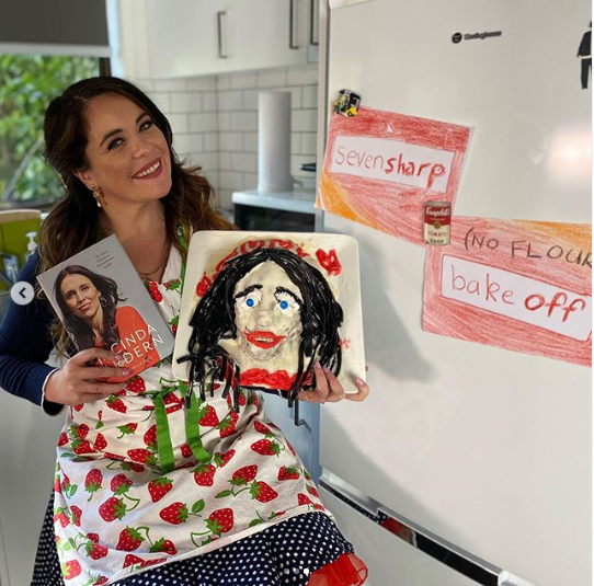 TV host and Comedian, Laura Daniel apologises to New Zealand PM Jacinda Ardern for baking a disturbing cake in her likeness (Photos)