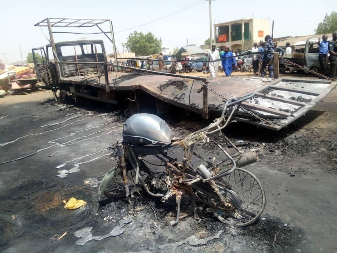 One killed in Bauchi market fire (photos)