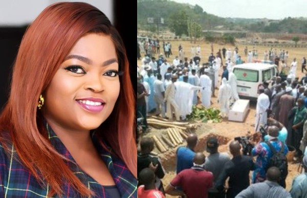 , Why Funke Akindele trended on twitter during the burial of President Buhari's Chief of Staff, Abba Kyari (videos), All9ja, All9ja
