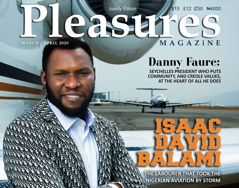Aircraft Engineer Isaac Balami Covers Pleasures Magazine