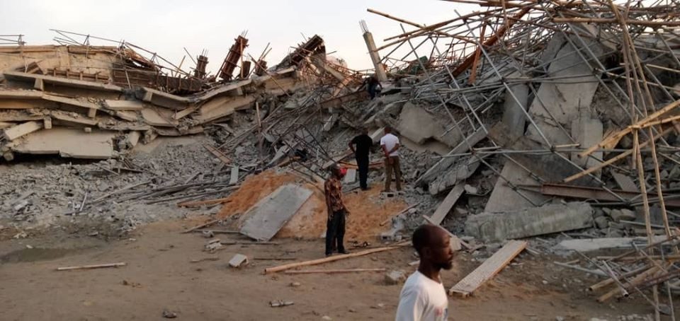 Update: Three more bodies recovered from site of Imo building collapse; mother and her two children still trapped in rubble, All9ja