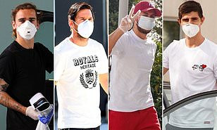 Lionel Messi and Eden Hazard lead the way as Barcelona and Real Madrid stars arrive for Coronavirus tests (Photos)