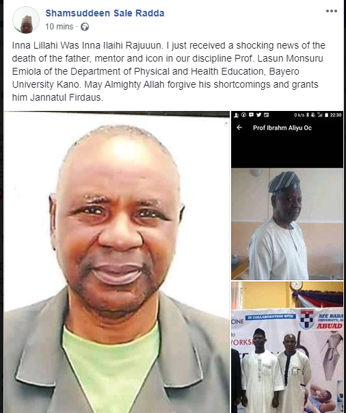 Kano records death of 7th Professor lindaikejisblog 1