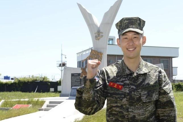 Tottenham Forward, Son finishes military training in South Korea lindaikejisblog 2