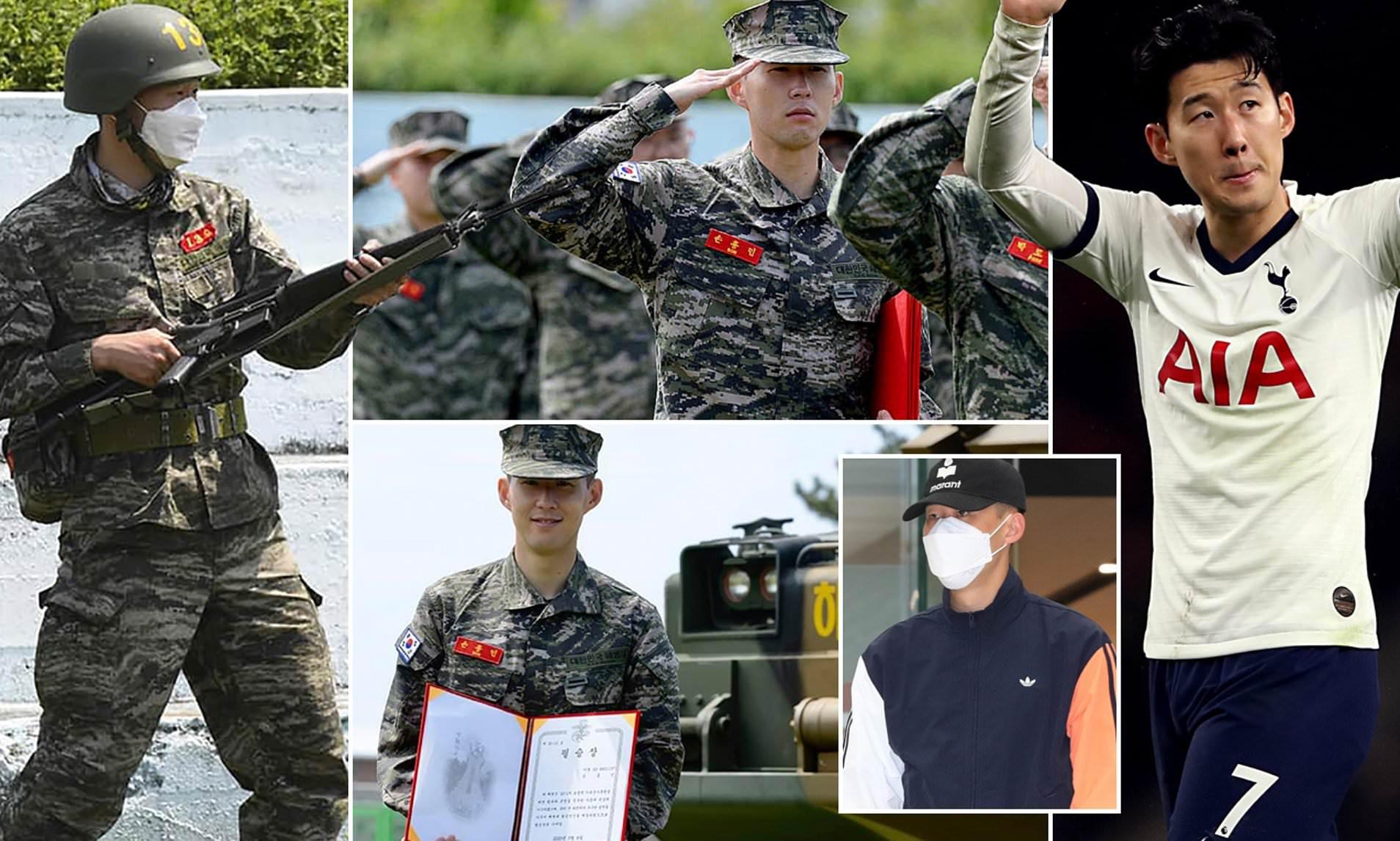 Tottenham Forward, Son finishes military training in South Korea lindaikejisblog