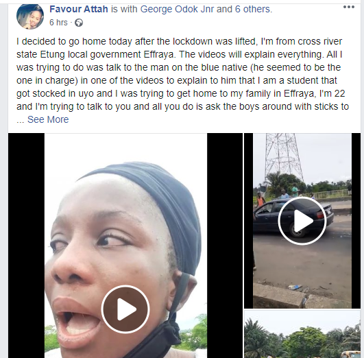 UNIUYO student cries out after allegedly being flogged at interstate border lindaikejisblog 1