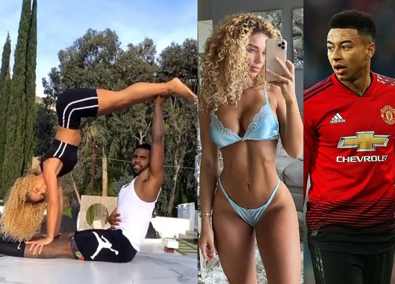 Jason Derulo reportedly 'dating Man.United player Jesse Lingard's ex-Jena Frumes with the two self-isolating together in LA' (Photos)