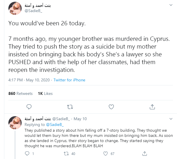 "Nigerian lady narrates how her brother was ""murdered"" in Cyprus and the alleged attempt to cover it up"