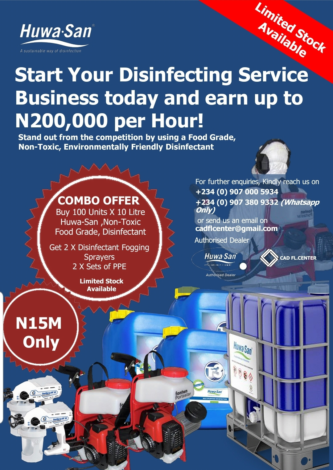 Start Your Disinfecting Service Business today and earn up to N200000 per hour