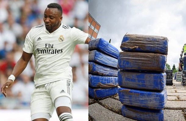 Former Real Madrid striker, Edwin Congo arrested and questioned over cocaine trafficking ring in Spain (Photos)