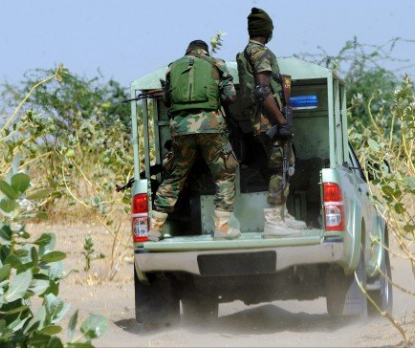 Nigerian soldiers in gun battle with Boko Haram at Borno military base, All9ja