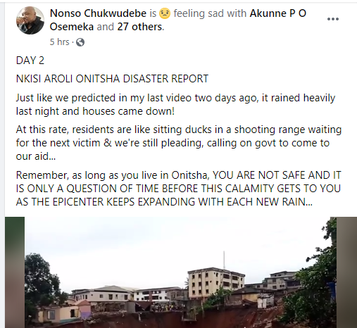 Houses collapse at erosion site in Onitsha lindaikejisblog 1