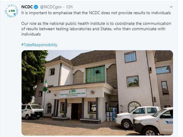 We send test results to states and not individuals - NCDC lindaikejisblog 1