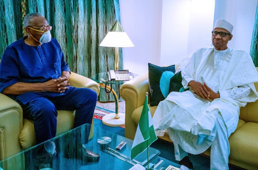 President Buhari receives T.Y Danjuma in the state house (photos), All9ja