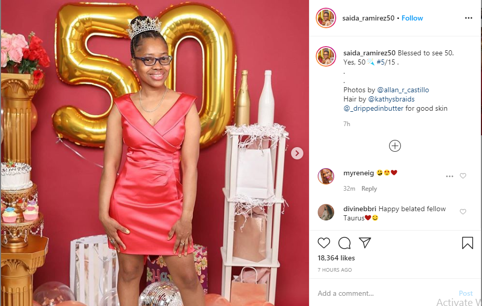 Black lady leaves social media users in shock with her 50th birthday photos lindaikejisblog 1