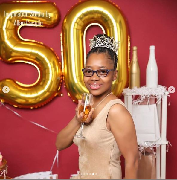 Black lady leaves social media users in shock with her 50th birthday photos lindaikejisblog 4