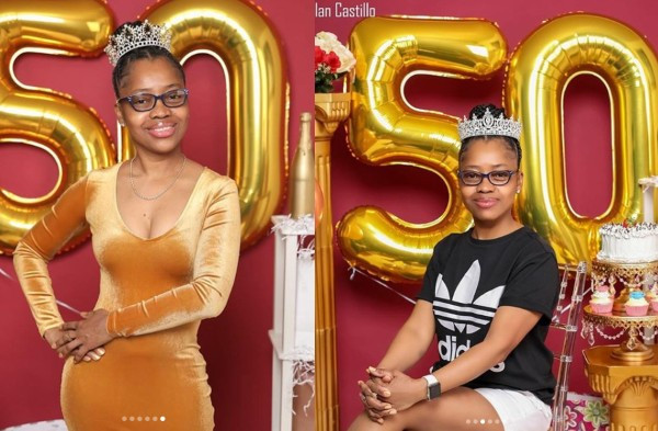 Black lady leaves social media users in shock with her 50th birthday photos lindaikejisblog