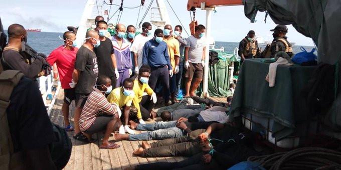 10 pirates arrested as Nigerian Navy foils hijack of Chinese vessel lindaikejisblog 2