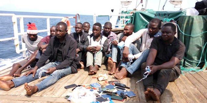 10 pirates arrested as Nigerian Navy foils hijack of Chinese vessel lindaikejisblog 1