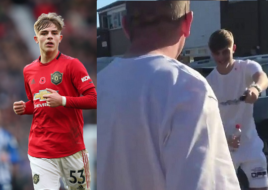 Manchester United defender, Brandon Williams, 19, surprises his dad with new 40,000 Mercedes on his birthday (Video)