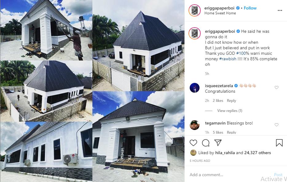 Rapper Erigga shows off his new house lindaikejisblog 1