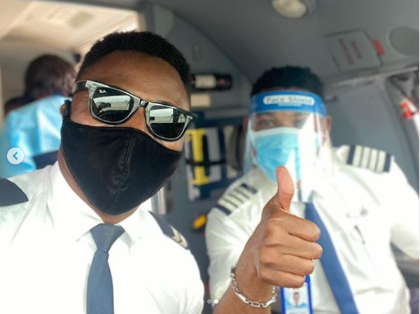 I'm not sure how to feel - Omotola Jalade shares photos of her husband, Captain Ekeinde flying out Chinese nationals who arrived Nigeria weeks ago lindaikejisblog 3