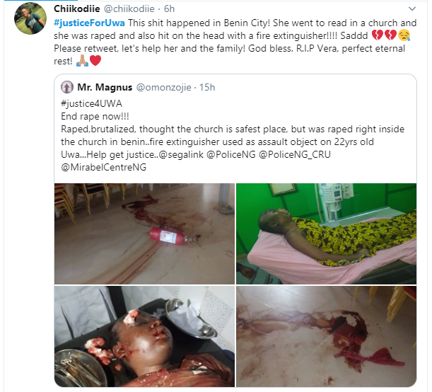 UNIBEN student raped and murdered inside a church lindaikejisblog 6