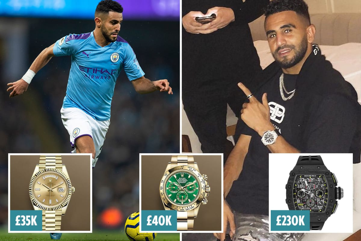 Manchester City's Riyad Mahrez targeted by thieves as he loses three luxury watches in 500,000 raid at his penthouse'