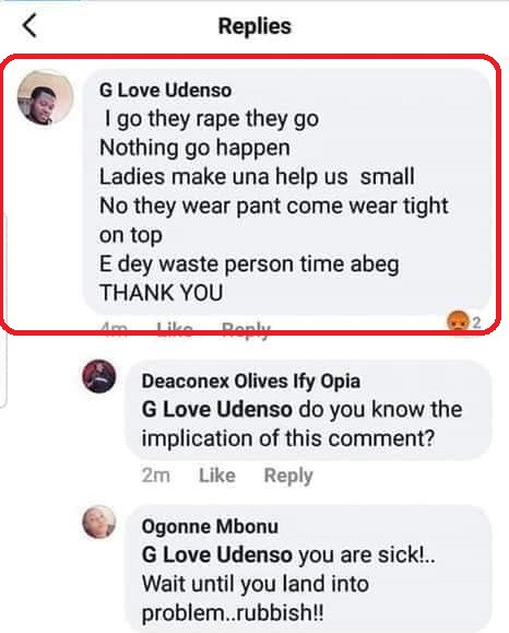 'I go dey rape dey go, nothing go happen' - Nigerian man boasts of being a rapist and assures of continuous activities while reacting to Uwa's death