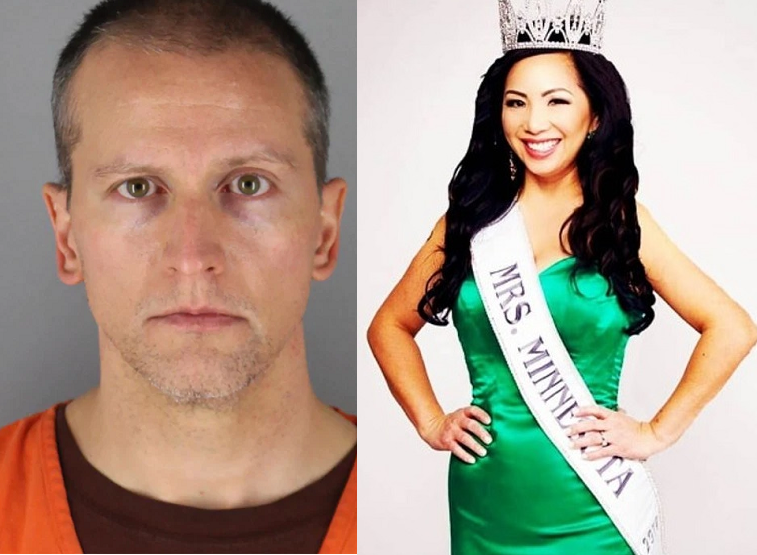 Pageant wife of 'killer cop' Derek Chauvin doesn't want a penny in their divorce and has applied to the court to have her name changed