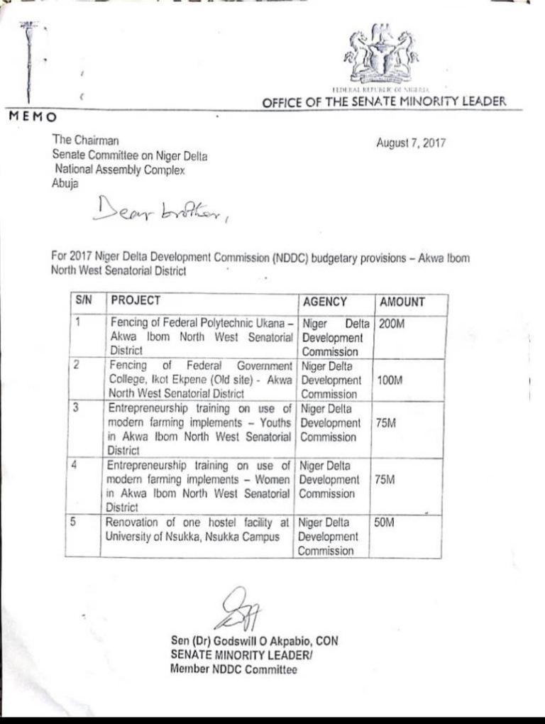Akpabio got N300m fence construction contract from NDDC - Senator Peter Nwaoboshi lindaikejisblog 1