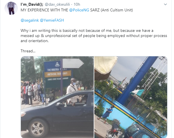 Nigerian man narrates he and others were extorted by SARS officers who arrested him after getting a haircut lindaikejisblog 1
