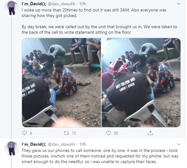 Nigerian man narrates he and others were extorted by SARS officers who arrested him after getting a haircut lindaikejisblog 5