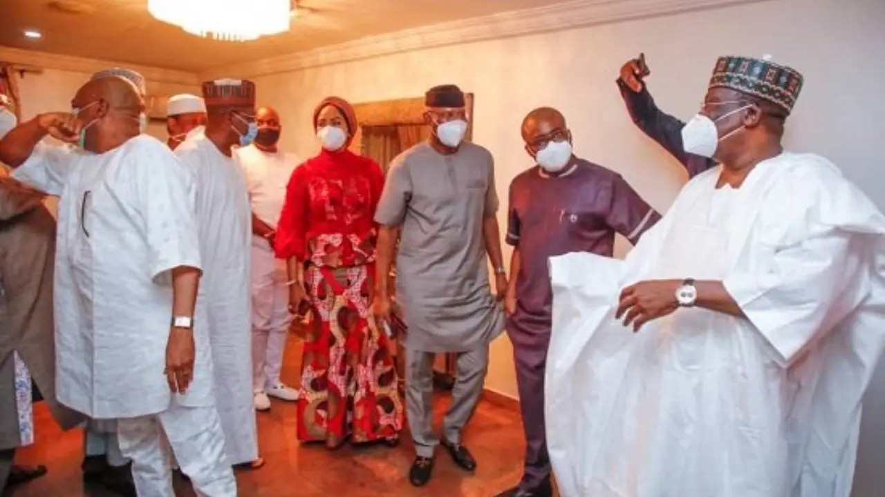 Senate President Lawan and others visit Orji Kalu after being released from prison lindaikejisblog