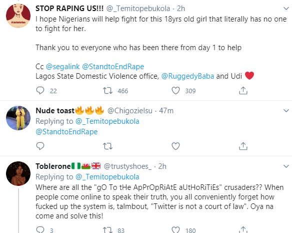 """""""You sure say you no enjoy am"""" Boss accuses police of mocking her salesgirl, 18, who was raped by dispatch rider and claims LUTH staff have refused to treat the girl, All9ja"""