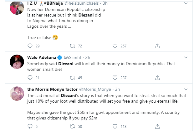 , Nigerians react to former Minister of Petroleum,  Diezani Alison-Madueke 'not being extraditable' after acquiring Dominican citizenship, All9ja, All9ja