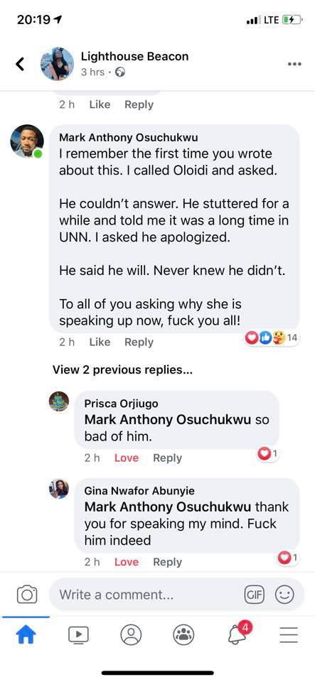 Nigerian lady who called out an about-to-wed man over rape, shares more details lindaikejisblog 5