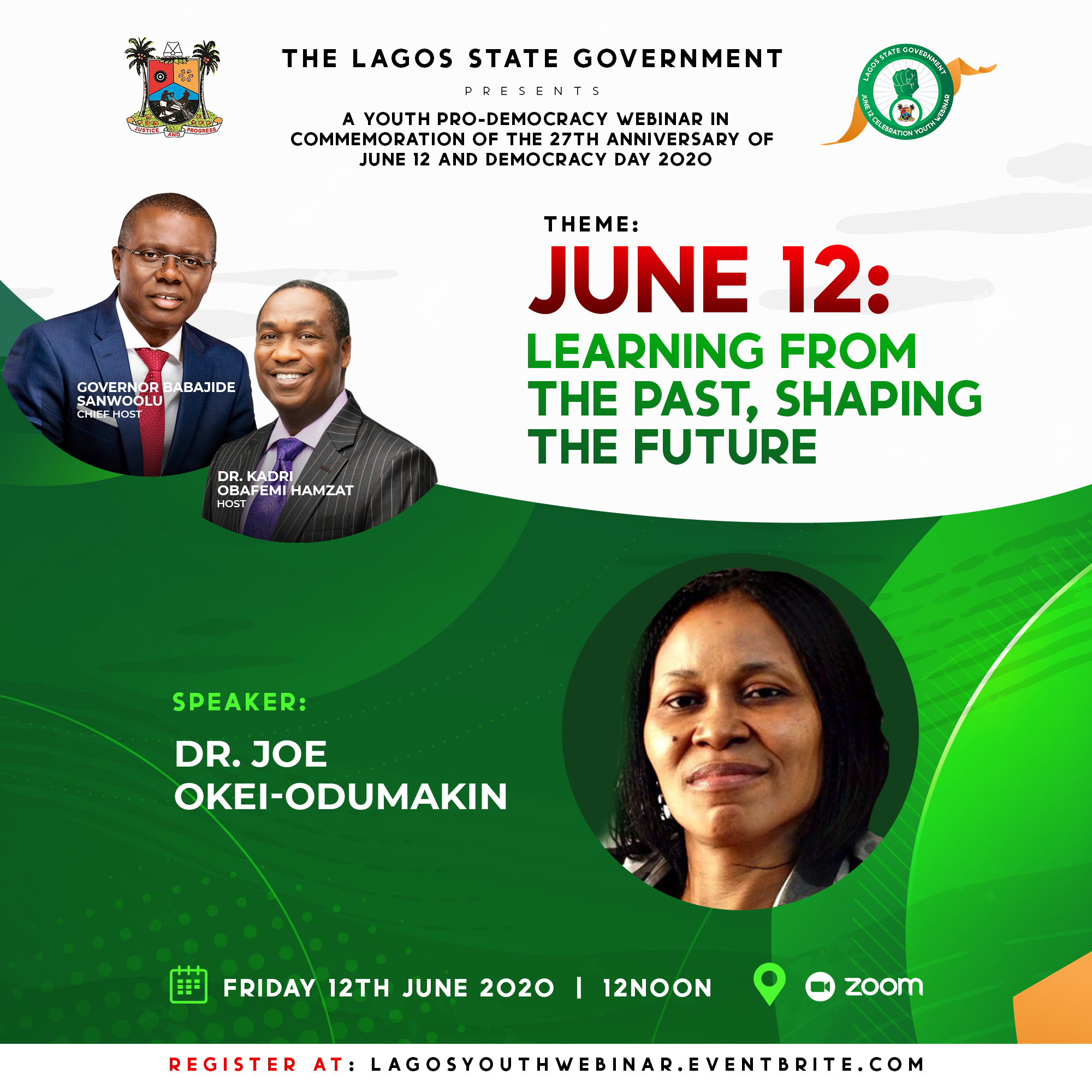 Invitation: Sanwoolu to host Tinubu, Soyinka, Cherie Blair, Momodu, Odumakin on June 12 Commemoration Webinar for Lagos Youth, All9ja