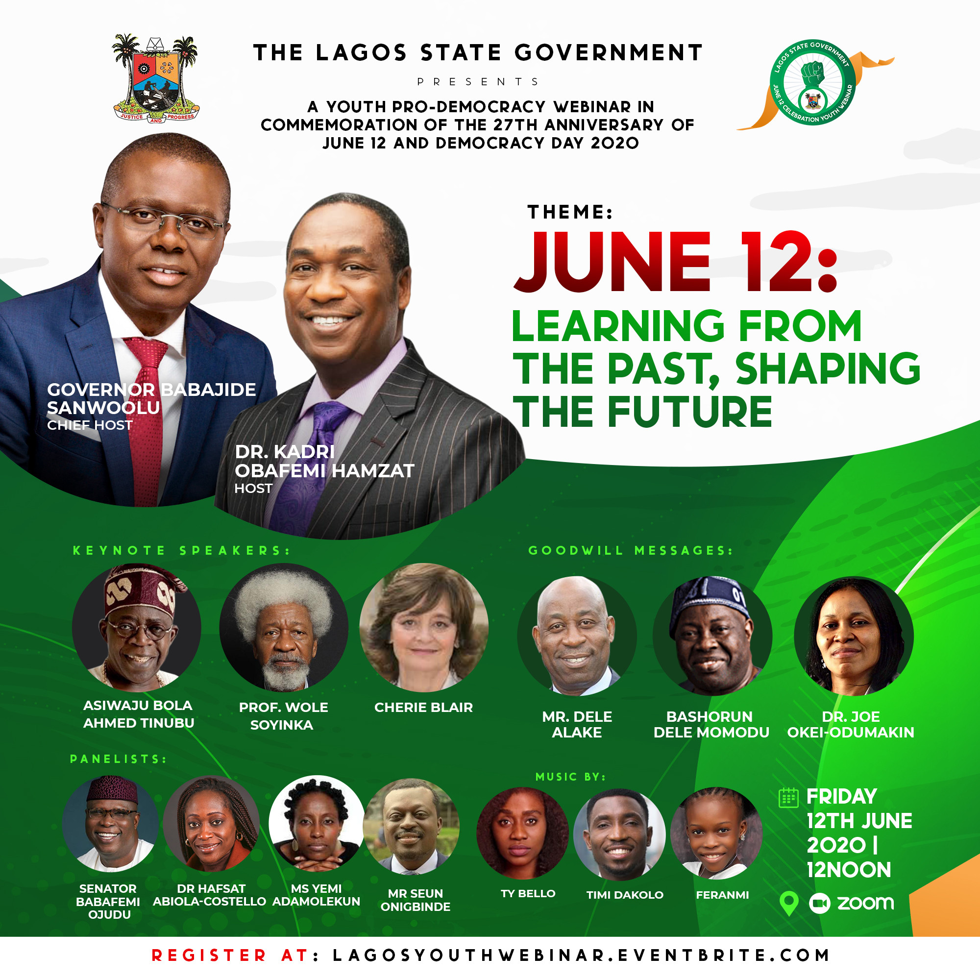 , Invitation: Sanwoolu to host Tinubu, Soyinka, Cherie Blair, Momodu, Odumakin on June 12 Commemoration Webinar for Lagos Youth, All9ja, All9ja