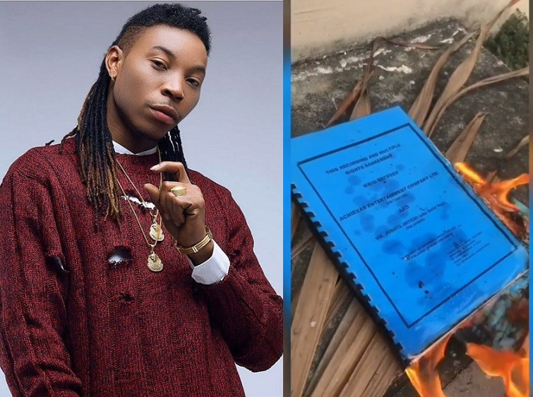 Solid Star sets contract agreement between him and his former record label on fire after strained relationship (Video)