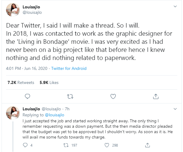 Graphics designer calls out Ramsey Noah for allegedly using her logo for his movie without paying for lindaikejisblog 1
