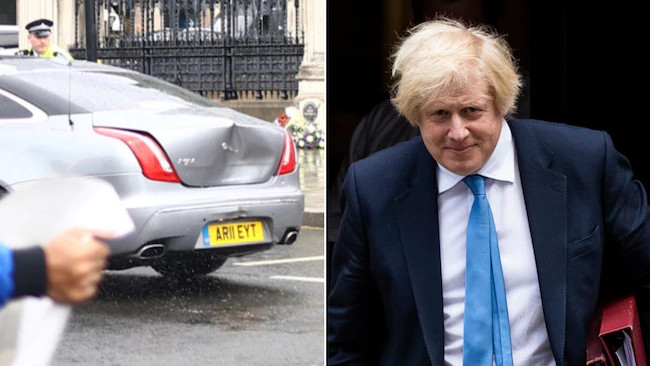 , UK PM, Boris Johnson involved in a car crash outside Parliament (video/photos), All9ja, All9ja